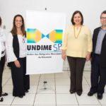 Luiz Miguel Presidente da Undime SP com Professora Marialba Carneiro, Jane Haddad e Ana Beatriz